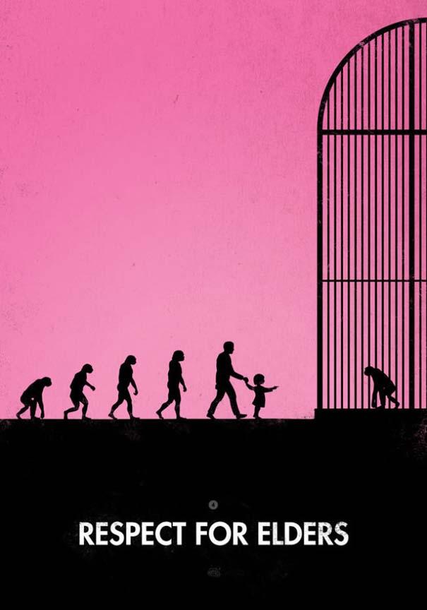 Η διάσημη εικόνα της ανθρώπινης εξέλιξης σε διαφορετικές εκδοχές (16)