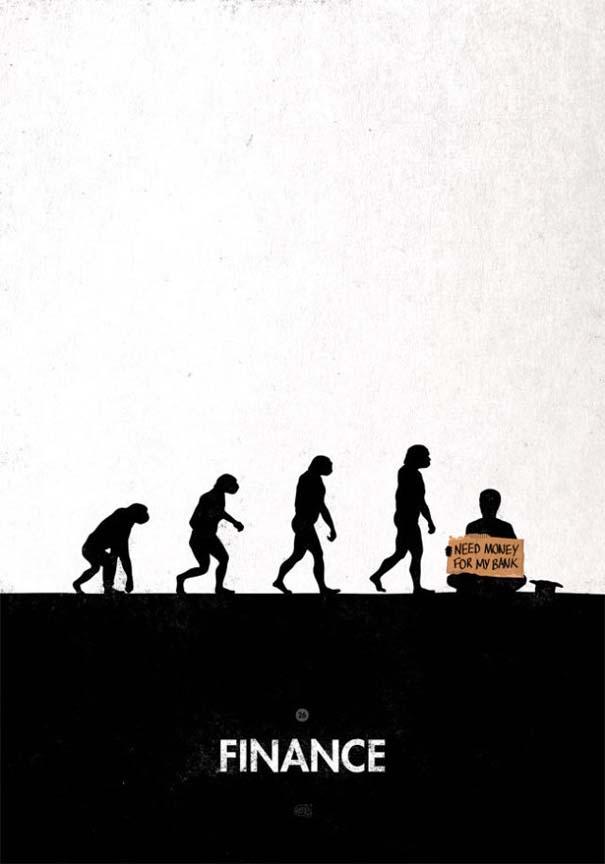 Η διάσημη εικόνα της ανθρώπινης εξέλιξης σε διαφορετικές εκδοχές (30)