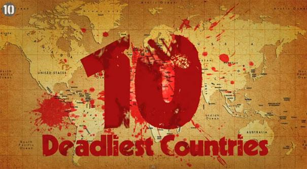 Οι 10 πιο... φονικές χώρες στον κόσμο