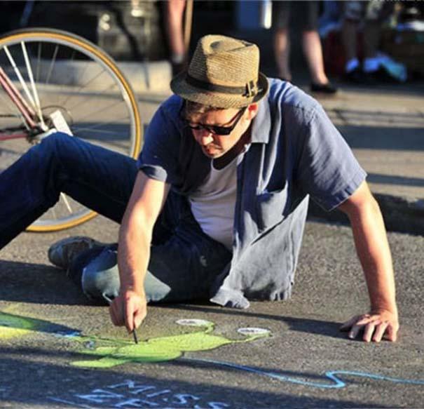 Μοναδική τέχνη του δρόμου από τον David Zinn (1)