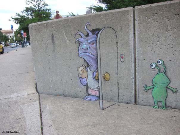 Μοναδική τέχνη του δρόμου από τον David Zinn (5)