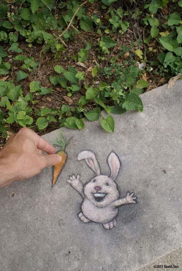 Μοναδική τέχνη του δρόμου από τον David Zinn (9)