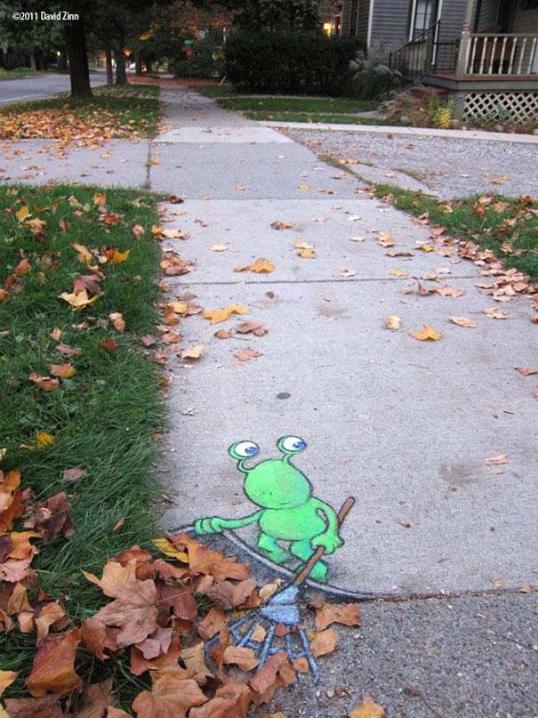 Μοναδική τέχνη του δρόμου από τον David Zinn (10)
