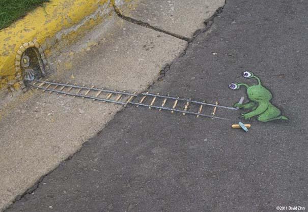 Μοναδική τέχνη του δρόμου από τον David Zinn (22)