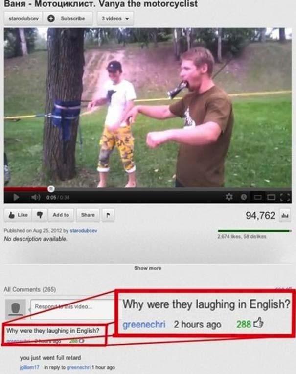 Παράξενα & ξεκαρδιστικά σχόλια στο YouTube (22)