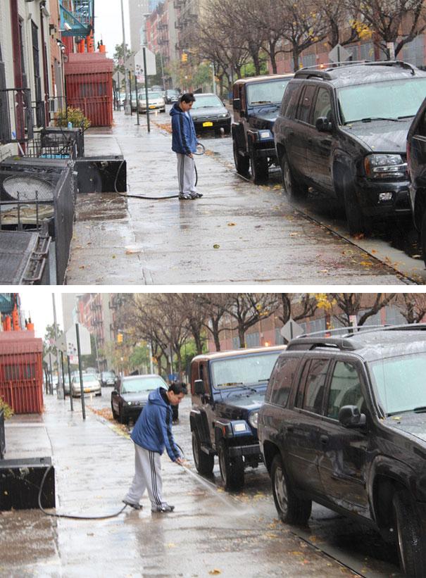 Κανείς δεν του είπε για τον τυφώνα; | Φωτογραφία της ημέρας