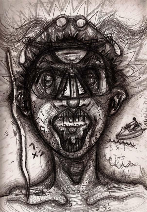 Ζωγραφίζει πορτραίτα του με τρελά αποτελέσματα (3)