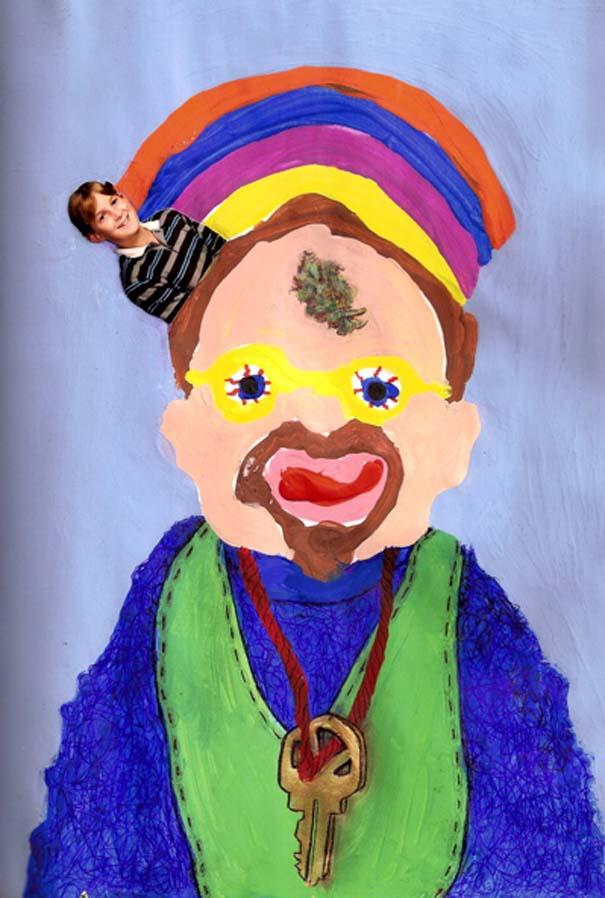 Ζωγραφίζει πορτραίτα του με τρελά αποτελέσματα (9)