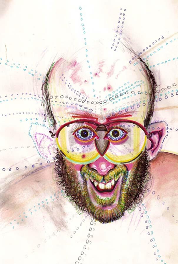 Ζωγραφίζει πορτραίτα του με τρελά αποτελέσματα (11)