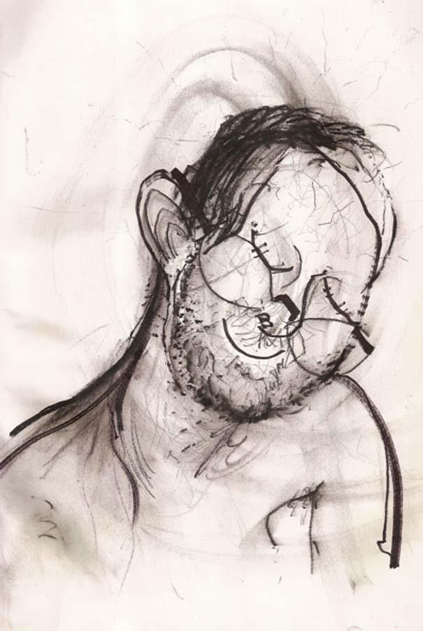 Ζωγραφίζει πορτραίτα του με τρελά αποτελέσματα (13)