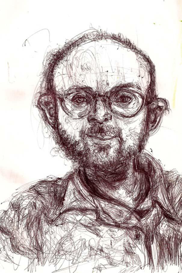 Ζωγραφίζει πορτραίτα του με τρελά αποτελέσματα (15)