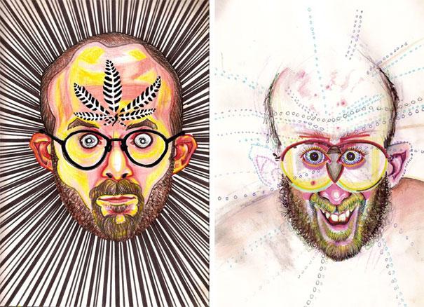 Ζωγραφίζει πορτραίτα του με τρελά αποτελέσματα