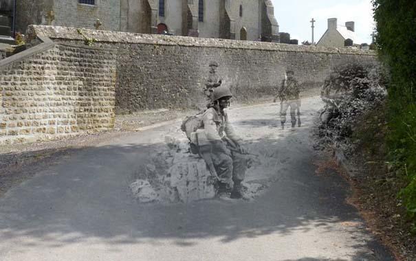 Τότε και τώρα: 9 «στοιχειωμένες» φωτογραφίες του Β' Παγκοσμίου Πολέμου (6)