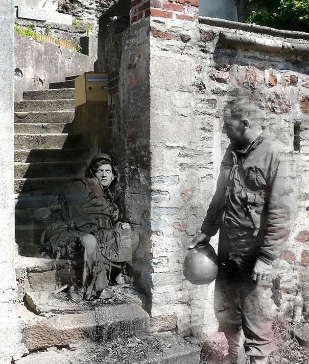 Τότε και τώρα: 9 «στοιχειωμένες» φωτογραφίες του Β' Παγκοσμίου Πολέμου (7)