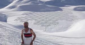 Απίστευτα σχέδια μεγάλης κλίμακας στο χιόνι