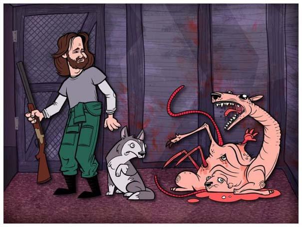 Διάσημες ταινίες και σειρές σε μορφή Cartoon (5)