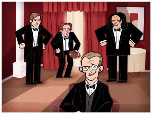 Διάσημες ταινίες και σειρές σε μορφή Cartoon (14)