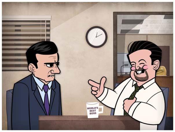 Διάσημες ταινίες και σειρές σε μορφή Cartoon (18)