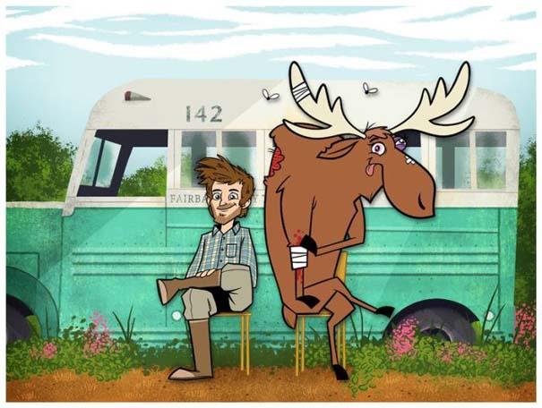 Διάσημες ταινίες και σειρές σε μορφή Cartoon (20)