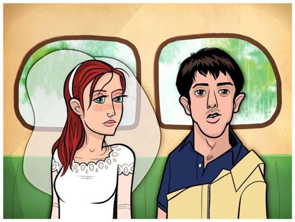 Διάσημες ταινίες και σειρές σε μορφή Cartoon (22)