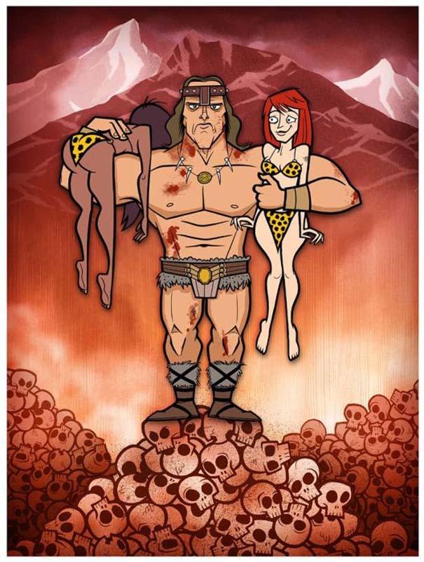 Διάσημες ταινίες και σειρές σε μορφή Cartoon (25)
