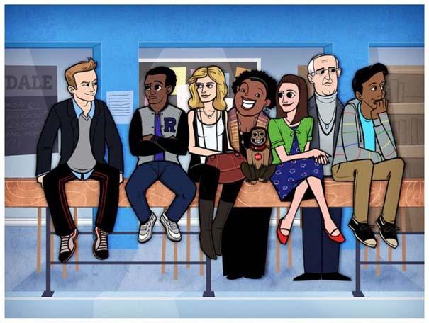 Διάσημες ταινίες και σειρές σε μορφή Cartoon (27)