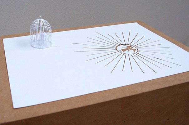 Απίστευτα έργα τέχνης με μια κόλλα χαρτί Α4 (1)