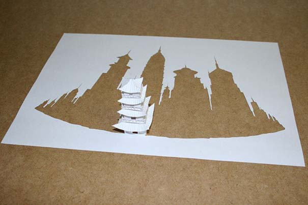 Απίστευτα έργα τέχνης με μια κόλλα χαρτί Α4 (6)