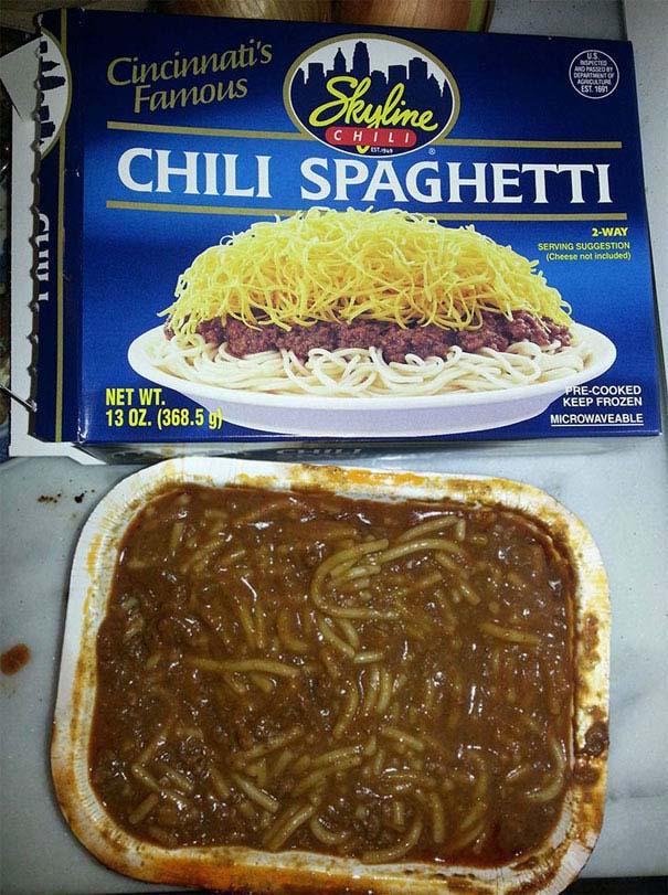 Φαγητό: Διαφημίσεις vs Πραγματικότητα (1)