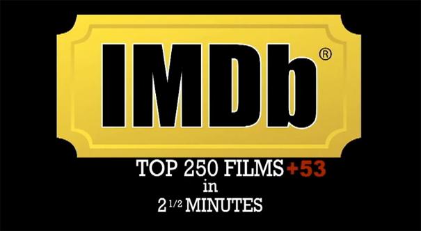 Οι 250 κορυφαίες ταινίες σε 2,5 λεπτά