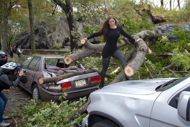 Μοντέλο χρησιμοποίησε τις καταστροφές του τυφώνα Sandy ως φόντο για φωτογράφιση... (1)
