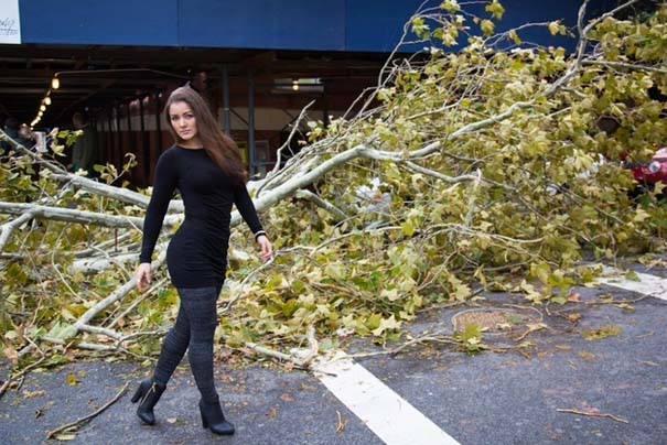 Μοντέλο χρησιμοποίησε τις καταστροφές του τυφώνα Sandy ως φόντο για φωτογράφιση... (4)