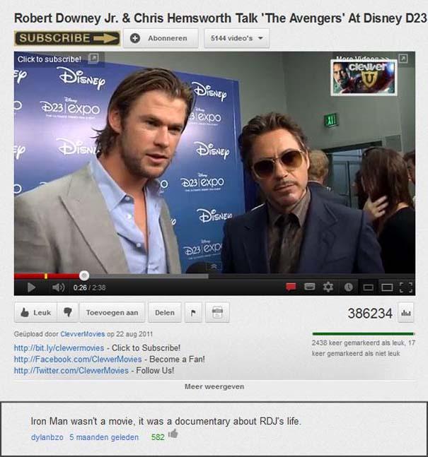 Παράξενα & ξεκαρδιστικά σχόλια στο YouTube (13)
