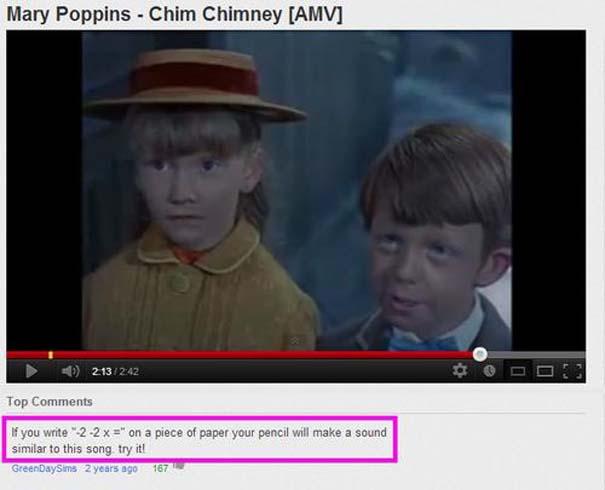 Παράξενα & ξεκαρδιστικά σχόλια στο YouTube (17)