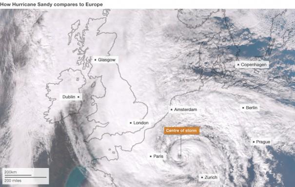 Αν ο τυφώνας Sandy χτυπούσε την Ευρώπη | Φωτογραφία της ημέρας
