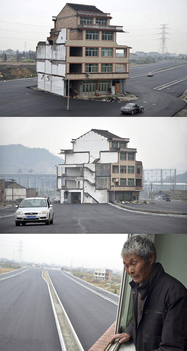 Ένα σπίτι στη μέση της λεωφόρου | Φωτογραφία της ημέρας