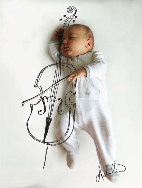 Μητέρα μετατρέπει τις πόζες του μωρού της σε ξεκαρδιστικές δραστηριότητες (2)