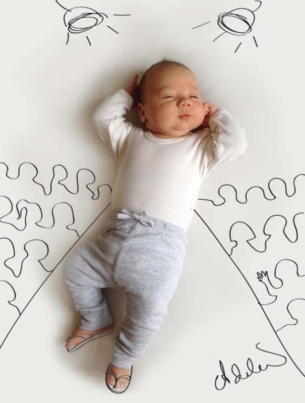 Μητέρα μετατρέπει τις πόζες του μωρού της σε ξεκαρδιστικές δραστηριότητες (3)