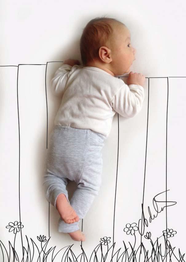 Μητέρα μετατρέπει τις πόζες του μωρού της σε ξεκαρδιστικές δραστηριότητες (4)