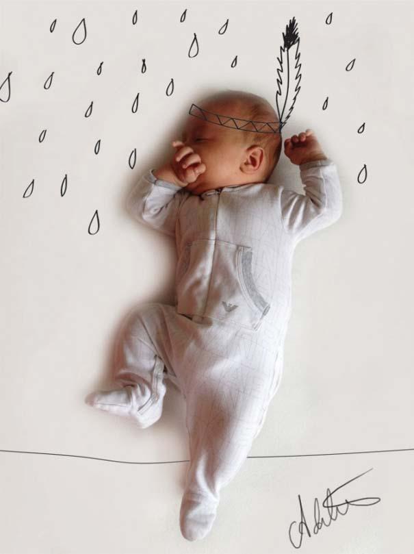 Μητέρα μετατρέπει τις πόζες του μωρού της σε ξεκαρδιστικές δραστηριότητες (5)