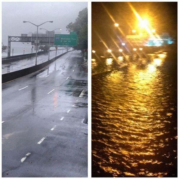 Πριν και μετά τον τυφώνα Sandy (1)