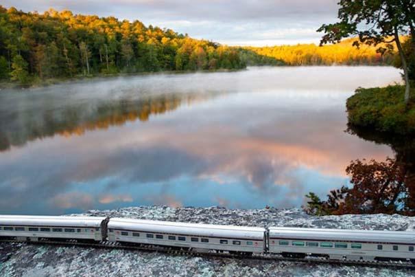 Εκπληκτικές φωτογραφίες ενός τρένου μινιατούρας που διασχίζει τον Καναδά (3)