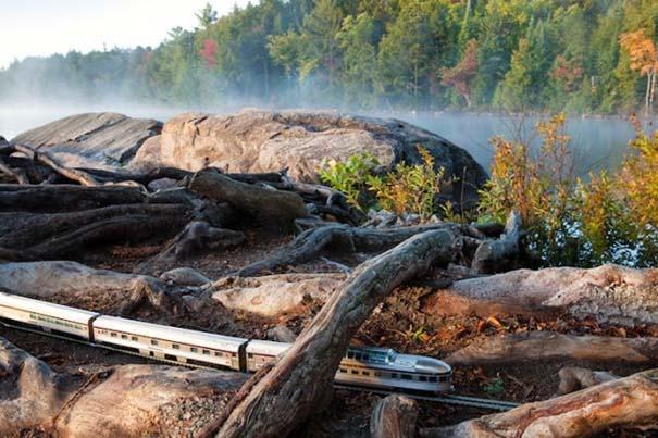 Εκπληκτικές φωτογραφίες ενός τρένου μινιατούρας που διασχίζει τον Καναδά (8)