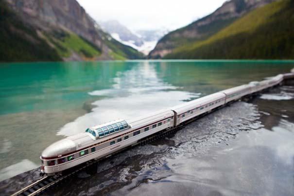 Εκπληκτικές φωτογραφίες ενός τρένου μινιατούρας που διασχίζει τον Καναδά (10)