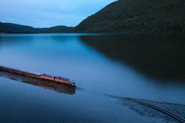 Εκπληκτικές φωτογραφίες ενός τρένου μινιατούρας που διασχίζει τον Καναδά (15)