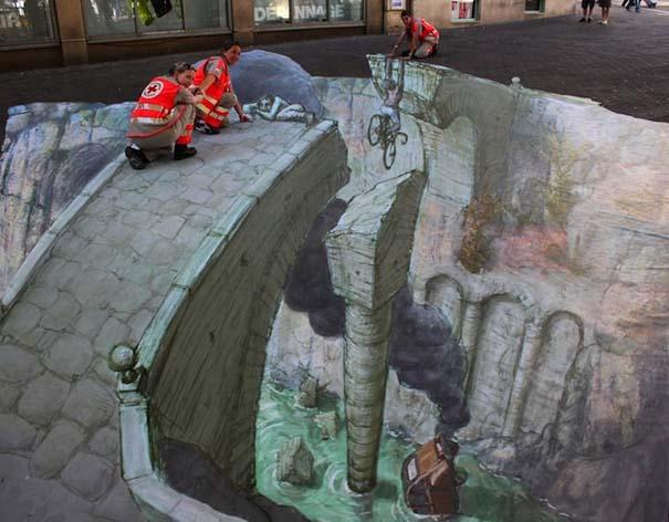 3D Ζωγραφιές στο δρόμο (2)