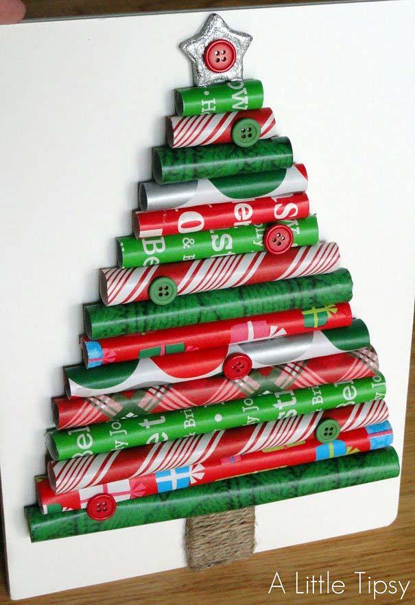 DIY Χριστουγεννιάτικα δέντρα (4)