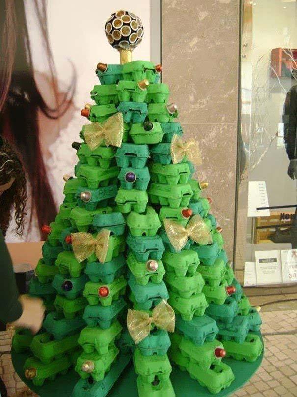 DIY Χριστουγεννιάτικα δέντρα (11)