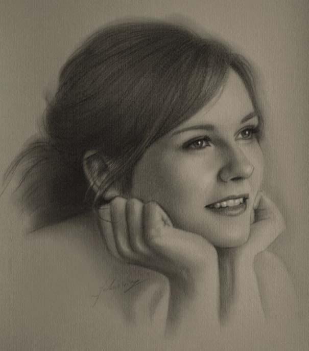 21 εκπληκτικά πορτραίτα διασήμων με μολύβι (8)