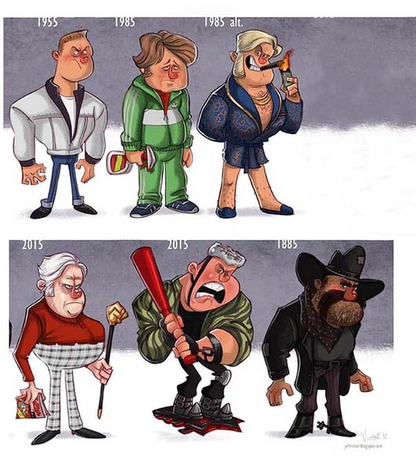 Η εξέλιξη διάσημων ηθοποιών μέσα από αστείες σκιτσογραφίες (8)